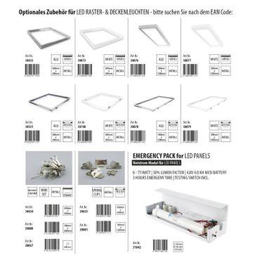 LED Panel Einbauleuchte 40 Watt rechteckig 30x120cm - tageslichtweiß - alu – Bild 4