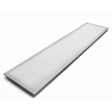 LED Panel Einbauleuchte 40 Watt rechteckig 30x120cm - neutralweiß - alu - dimmbar mit LED Dimmer