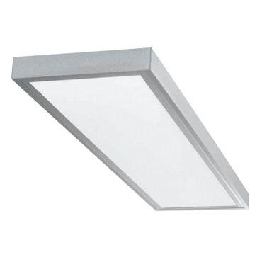 LED Deckenleuchte 40 Watt rechteckig 30x120cm - warmweiß - alu - dimmbar mit LED Dimmer