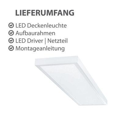 LED Deckenleuchte 40 Watt rechteckig 30x120cm - neutralweiß - alu - dimmbar mit LED Dimmer – Bild 3