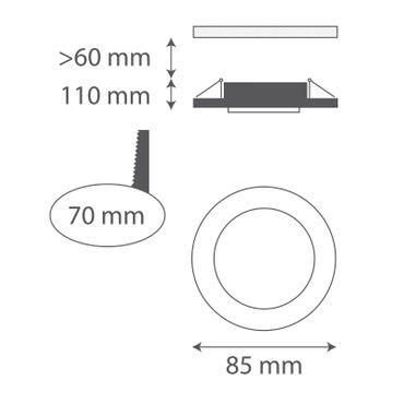 Einbaustrahler IP65 chrom - GU10 – Bild 2