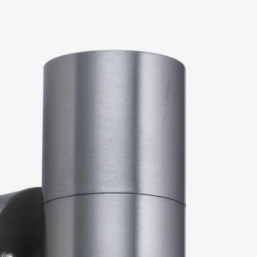 LED Außenwandleuchte 2flammig Edelstahllook – Bild 2