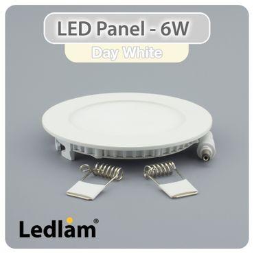 LED Einbaustrahler Panel weiss rund Ø 12cm 6 Watt neutralweiß – Bild 2