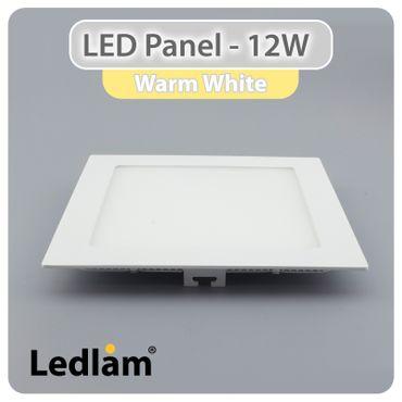 LED Panel weiss quadratisch 17 x 17cm 12 Watt warmweiß – Bild 1