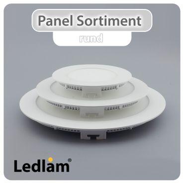 LED Einbaustrahler Panel weiss rund Ø 17cm 12 Watt warmweiß – Bild 7