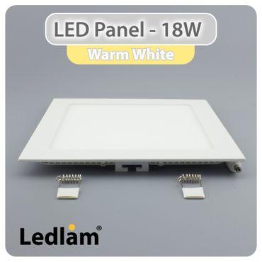 LED Panel weiss quadratisch 22 x 22cm 18 Watt warmweiß – Bild 2