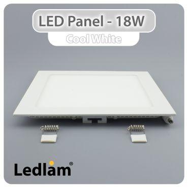 LED Panel weiss quadratisch 22 x 22cm 18 Watt tageslichtweiß – Bild 2