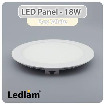 LED Einbaustrahler Panel weiss rund Ø 22cm 18 Watt neutralweiß – Bild 1