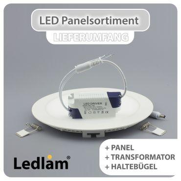 LED Einbaustrahler Panel weiss quadratisch 12 x 12cm 6 Watt neutralweiß dimmbar mit Led Dimmer – Bild 8