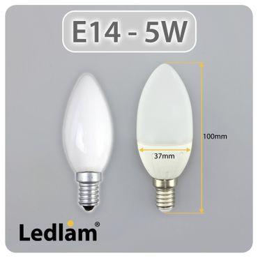 E14 LED Lampe Kerze 5 Watt – Bild 3