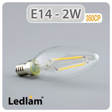 E14 LED Kerze Filament 2 Watt – Bild 1