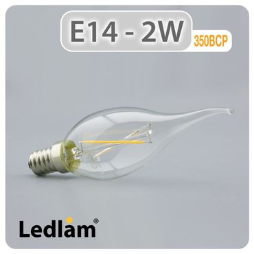 E14 LED Windstoßkerze Filament 2 Watt – Bild 1