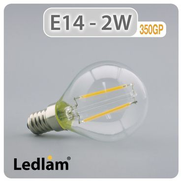 E14 LED Lampe Filament 2 Watt – Bild 1