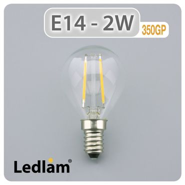 E14 LED Lampe Filament 2 Watt – Bild 2