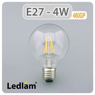 E27 LED Lampe Filament klar 4 Watt  – Bild 2