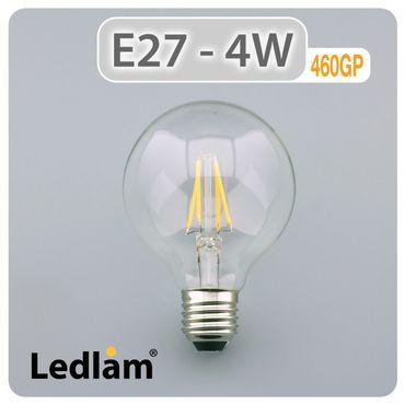 E27 LED Globus Filament klar 4 Watt  – Bild 2