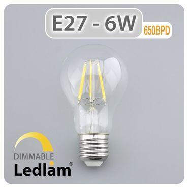E27 LED Filament klar 6 Watt dimmbar mit LED Dimmer – Bild 2