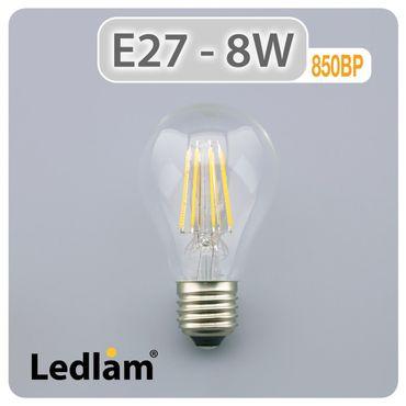 E27 LED Filament klar 8 Watt – Bild 2