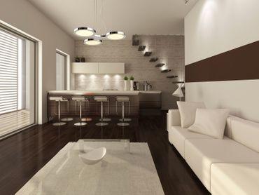 LED Design Lampe Pendelleuchte 3flammig rund chrom – Bild 3