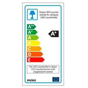 LED Design Lampe Pendelleuchte Silberoptik länglich – Bild 4