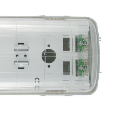 LED Feuchtraumlampe Wannenhalterung 120cm doppel ohne EVG - IP65 – Bild 1
