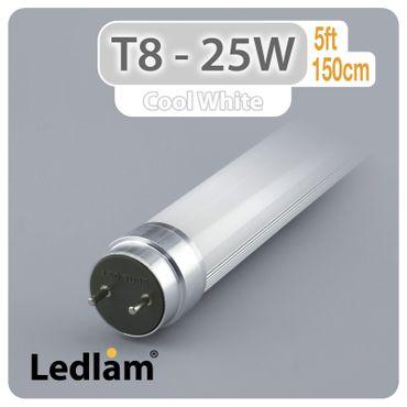 LED Feuchtraumlampe 150cm single - IP65 - inkl 1x LED T8 Röhre - tageslichtweiß – Bild 5