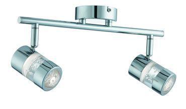 LED Badezimmerspot Bubbles Effekt zweiflammig IP44 - chrom – Bild 1
