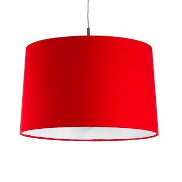 Textil-Hängeleuchte E27, 40cm Druchmesser, rot – Bild 1