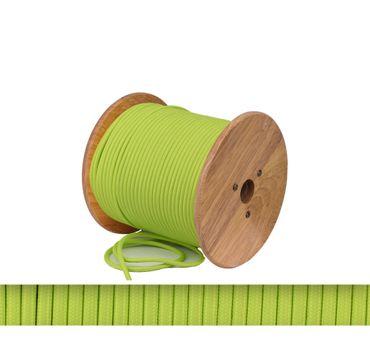 Textilkabel, Lampen Kabel Strom, Stoffkabel, 2-adrig, 2x 0,75mm², grün  – Bild 1