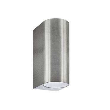 LED Außenwandleuchte 2flammig nickel-matt – Bild 4