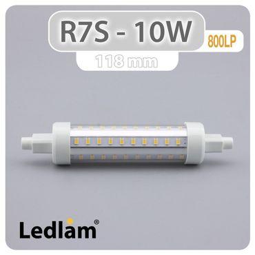 R7S LED Stab 10W 800LP 118mm - kalt weiß  – Bild 3