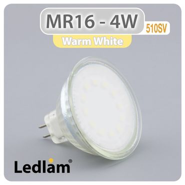 MR16 GU5.3 LED Spot 4W 12V 510SV - warm weiß  – Bild 1