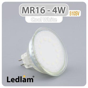 MR16 GU5.3 LED Spot 4W 12V 510SV - kalt weiß  – Bild 1