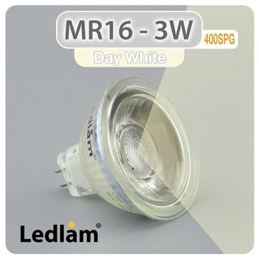 MR16 GU5.3 LED Spot 3W 12V COB 400SPG - neutral weiß  – Bild 1