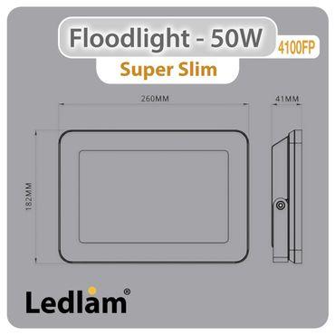 Ledlam LED Fluter - Strahler 50W 4100FP - flach - kalt weiß  – Bild 3