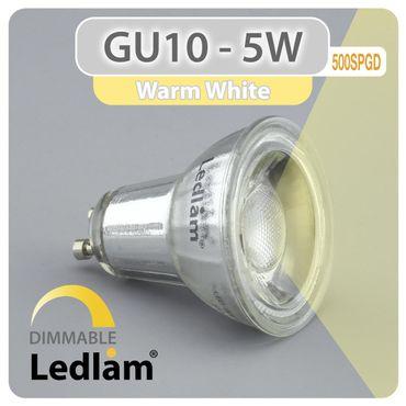 GU10 LED Spot dimmbar 5W SMD 500SPGD - warm weiß – Bild 1