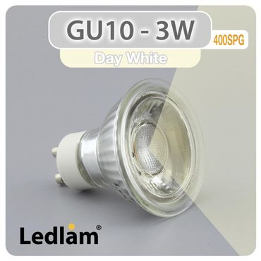 GU10 LED Spot 3W SMD 400SPG - neutral weiß  – Bild 1