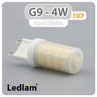 G9 LED Stiftsockel 4W 510CP - milchig - kalt weiß  – Bild 1