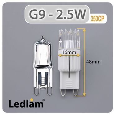 G9 LED Stiftsockel 2.5W 350CP - neutral weiß  – Bild 3