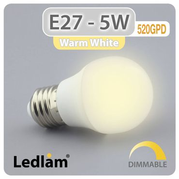 E27 LED Lampe 5W warmweiß dimmbar
