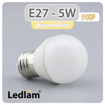 E27 LED Lampe 5W warmweiß  – Bild 1