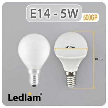 E14 LED Lampe 5W warmweiß  – Bild 2