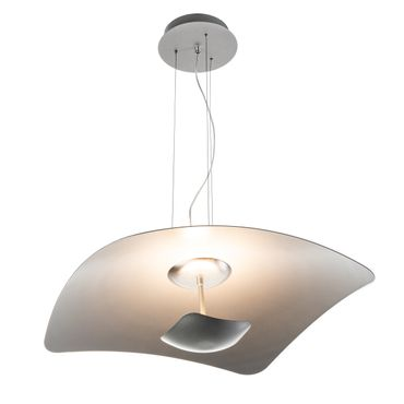 LED Pendelleuchte rechteckig flach Silber dimmbar mit Led Dimmer – Bild 4