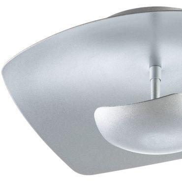 LED Deckenleuchte rechteckig flach Silber dimmbar mit Led Dimmer – Bild 7