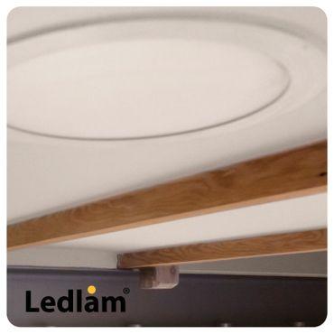 10er Set LED Einbauleuchte weiß 3 Watt quadratisch 8,5x8,5cm warmweiß – Bild 8