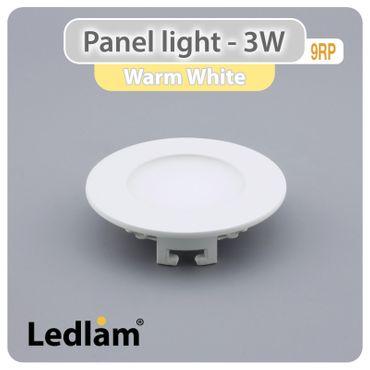 10er Set LED Einbauleuchte weiß 3 Watt rund 8,5cm warmweiß – Bild 1