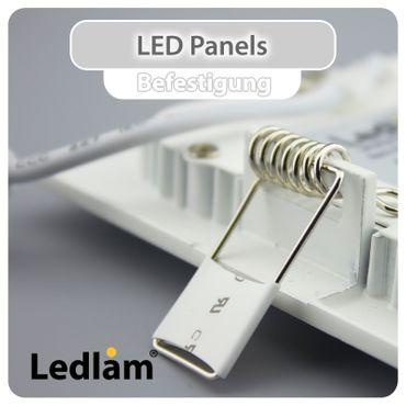 10er Set LED Einbauleuchte weiß 3 Watt quadratisch 8,5x8,5cm tageslichtweiß - dimmbar mit LED Dimmer – Bild 4
