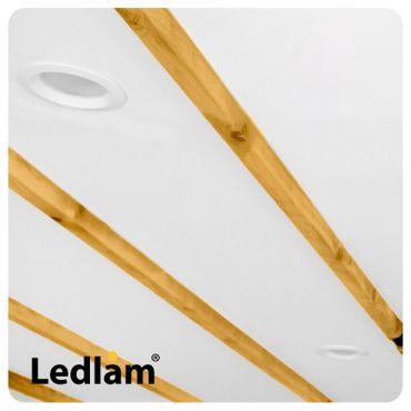 10er Set LED Einbauleuchte weiß 3 Watt rund 8,5cm warmweiß - dimmbar mit LED Dimmer – Bild 9