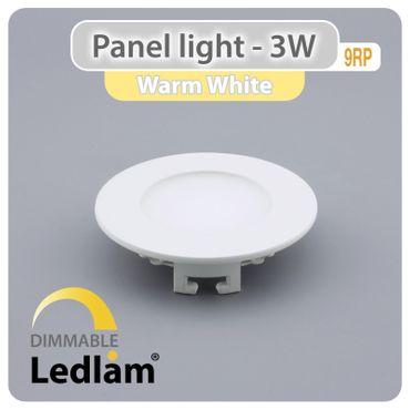10er Set LED Einbauleuchte weiß 3 Watt rund 8,5cm warmweiß - dimmbar mit LED Dimmer – Bild 1