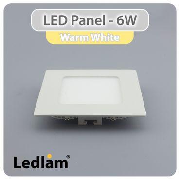 10er Set LED Panel weiss quadratisch 12 x 12cm 6 Watt warmweiß – Bild 1